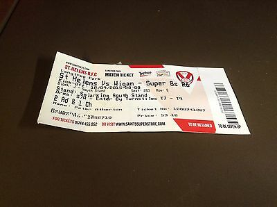 St. Helens v Wigan 18/9/15  rugby league ticket stub