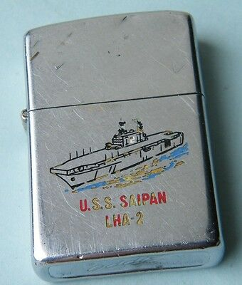 Zippo 1977 Uss Saipan Lha-2 Us Navy Amphibious Assault Ship