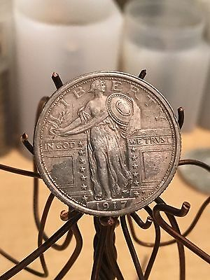1917 Type 1 Standing Liberty Quarter. I think its type 1. nice toned old silver
