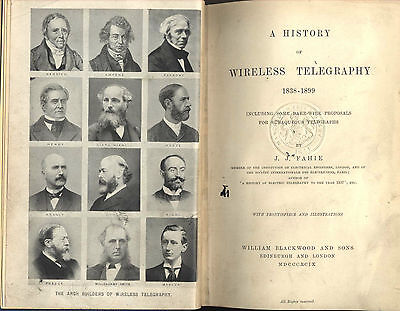 Rare 1899 History Wireless Telegraphy Fahie Marconi Early Radio First Edition