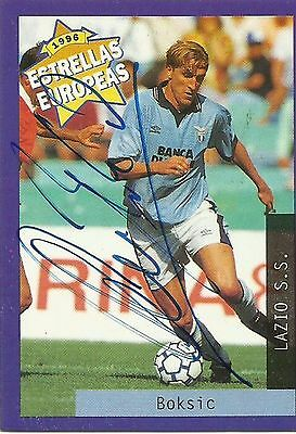 1996 Panini Estrellas Europeas Card: ALEN BOKSIC (Lazio), ORIGINALLY SIGNED!