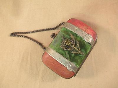 Antique for Bisque French Fashion Doll Ladies Coin Purse Accordion Interior