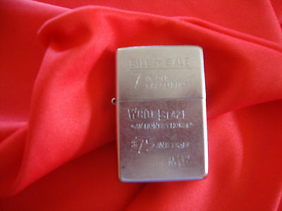 Zippo Marlboro Bill Of Sale White Blaze Logo 1937 Rare Edition!