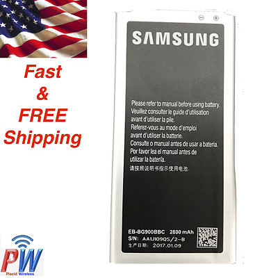 Genuine OEM Battery for Samsung Galaxy S5/SV EB-BG900BBC 2800 mAh with NFC