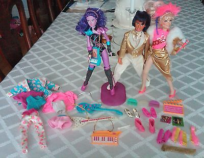 BIG LOT of JEM and the holograms rockers Jerrica dolls SYNERGY! RIO 80s outifts