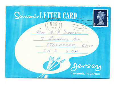 Vintage 1969 lettercard of Jersey (6 views), Channel Islands