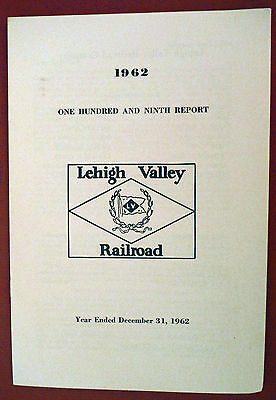 Lehigh Valley Railroad annual report for 1962