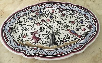 Conimbriga Hand Painted plate from Portugal, Signed