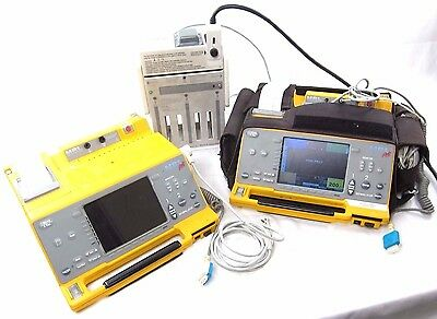 LOT of 2 Welch Allyn Pic50 SPO2 ECG Patient Monitor AED System 971027