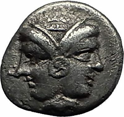 LAMPSAKOS in MYSIA 4-3CenBC Authentic Ancient Silver Greek Coin ATHENA i58009