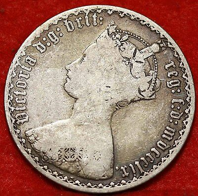 1859 Great Britain Florin Silver Foreign Coin Free S/H