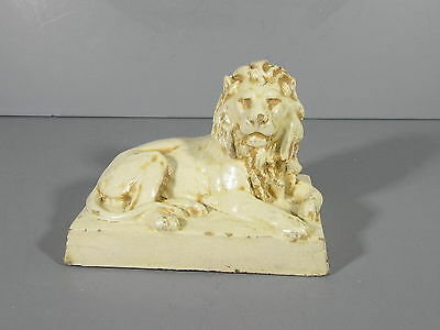 Northwestern Terra Cotta Co. Salesman's Sample Lion Paperweight Desk Figure