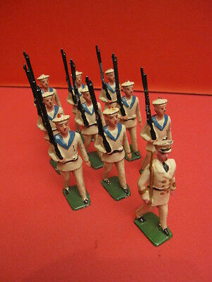 All Original 10 French White Sailors Soldier Ww1 Cd France Hollow Cast Lead 1930