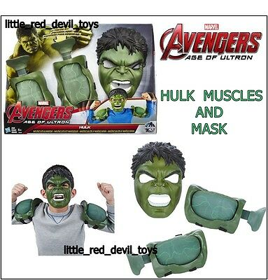 NEW Avengers Age of Ultron HULK Mighty Muscle Gamma & Mask Pack Dress Up Unisex