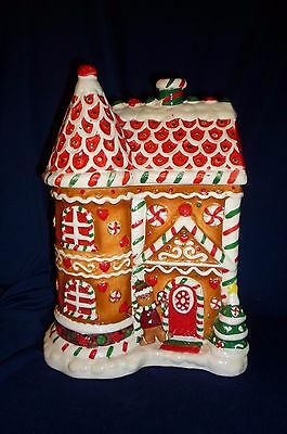 Gingerbread House Christmas Cookie Jar Sold By J.c.penney