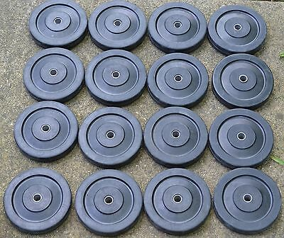 lot of 16 solid rubber wheels 6 inch black heavy duty 6 X1 inch Gleason wheel
