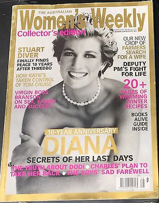 Australian Women's Weekly Collector's Edition Diana 10yr Anniversary August 2007
