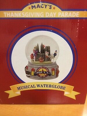 Macy's Thanksgiving Day Parade Musical Snow Globe Dome 2008 - NEW!