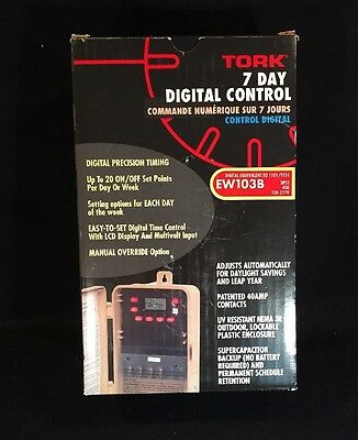 NSi Tork 1 Channel 7 Day Digital Control  Time Switch EW103B