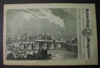 1833 paper: MOSCOW - full Saturday Mag issue on city; Kremlin; 4 engravings