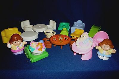 Fisher Price Little People Baby Doll Furniture And Figures 21 Pieces