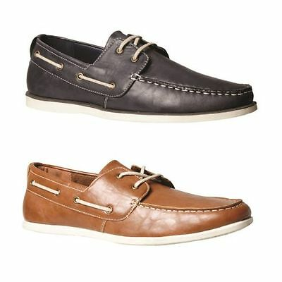Mens Grosby Deck Boat Deck Casual Navy Tan Men's Slip On Everyday Loafers Shoes