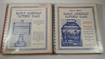 "2 Volumes - ""Early American Pattern Glass"" - SIGNED AUTOGRAPHED - EXCELLENT"