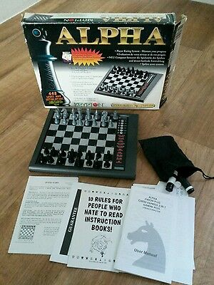 Alpha Krypton Electronic Chess Checkers Computer Complete Working 72 Teaching