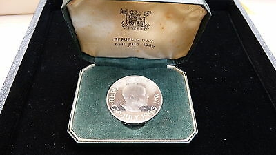 1966 Republic Of Malawi One Crown Proof Coin In Original Issue Box