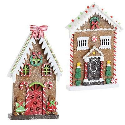 RAZ Imports Gingerbread House (HOUSE WITH RED or BLACK DOOR)