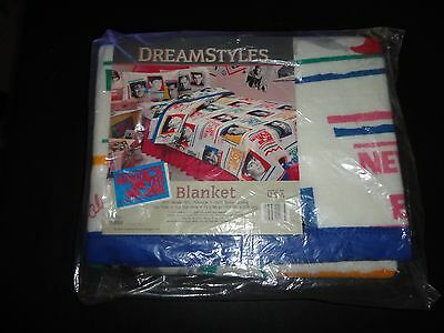 Vintage New Kids on the Block Blanket Twin Size NEW and SEALED NKOTB