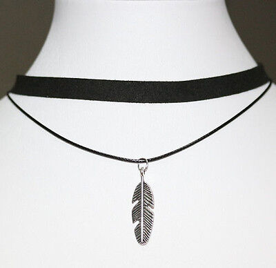 Horse & Western Jewellery Jewelry Native Usa Feather Choker Necklace Silver