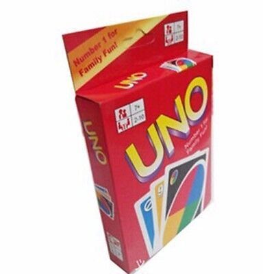 1 Box 108 UNO Playing Cards Game Fun Travel Family Friend Instruction Hot Sale