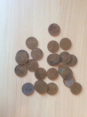 Selection Of Old Pennies