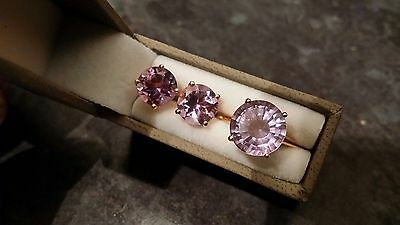 Amethyst Ring (size S) And Earrings