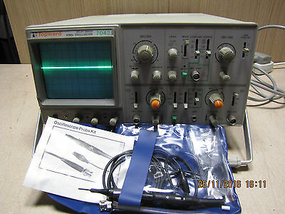 Topward 7042 Oscilloscope Delay sweep 40MHz with leads
