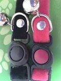 2 x Cat Collars - BLACK & DARK PINK with easy release safety clip Bell