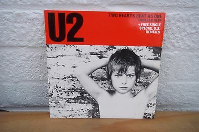 """U2 7"""" Record TWO HEARTS BEAT AS ONE UK DOUBLE PACK UK PRESSING"""