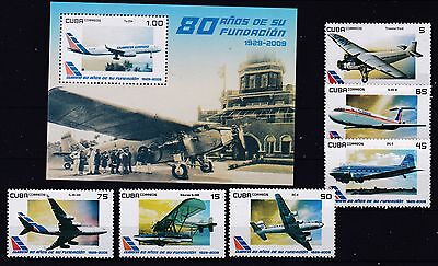 Transport, Airplanes  6 stamps + S/Sh MNH