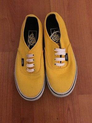 Vans-Size US 4-Yellow Skate Shoes
