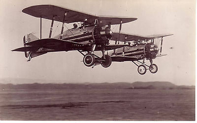 Pre-Ww2 Raf Aircraft Gloster Grebe B&w Rp Photographic Photo Postcard