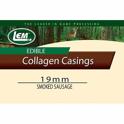 19mm, Smoked Mahogany Edible Collagen Casing