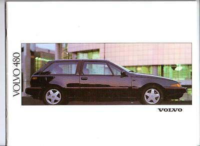 Volvo 480Es And 480 Turbo 1991 Sales Brochure