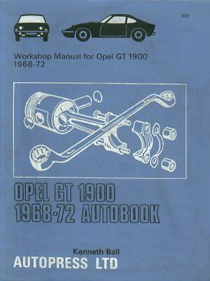 Opel Gt 1900 Coupe ( 1968 - 1972 ) Owners Workshop Manual