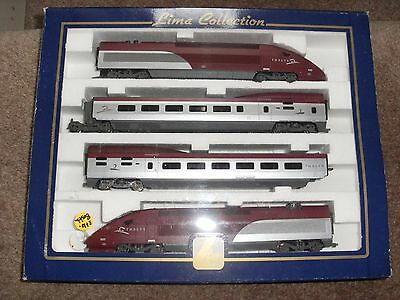 Lima Thalys TGV HO DC 8 Car Very Rare Boxed With accessories & Transfers