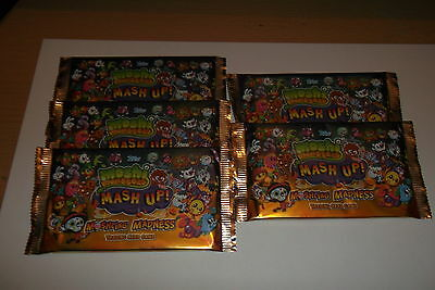 MOSHI MONSTERS MASH UP MOSHLING MADNESS TRADING CARDS  5 Packs SEALED/
