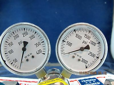 Airgas Stainless Steel 2 Stage Regulator / Corrosive & Toxic Gas CGA-580 [#7-#11