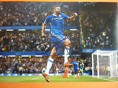 Chelsea Diego Costa hand signed photo 12x8