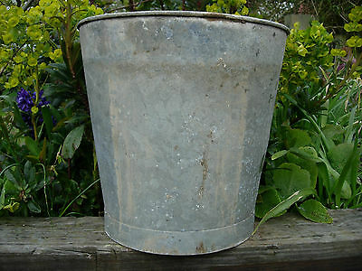 Genuine Vintage  Galvanised Flower Bucket Christmas Tree 30 cm high  (436b)