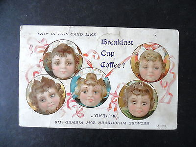 Breakfast Cup Coffee Advertising Victorian Trade Card